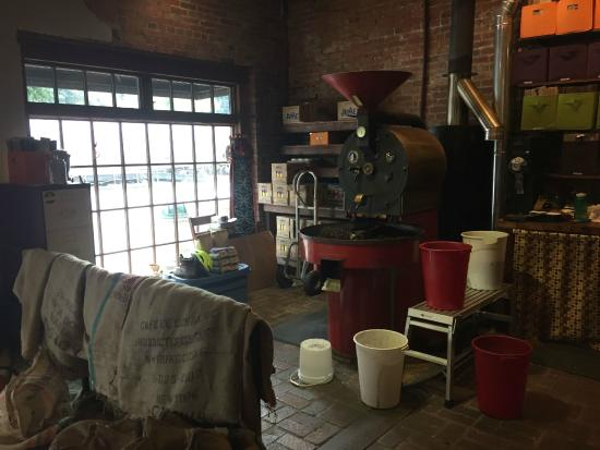 Panacea Coffeehouse Cafe & Roastery : roastery near the front