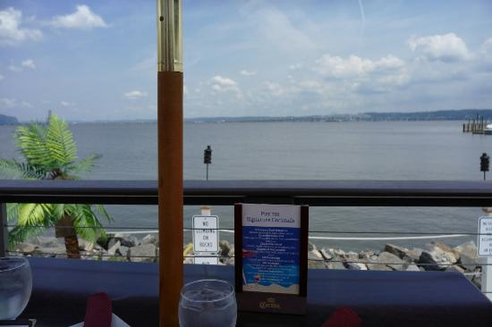Piermont, NY: View from tables and special cocktail menu