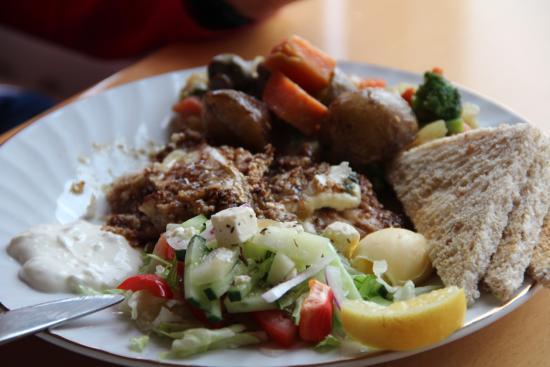 Guesthouse Hvita: das köstliche Abendessen - Fisch