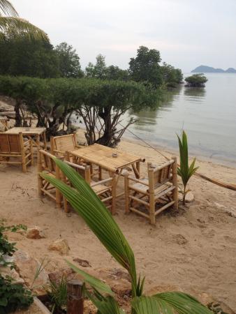 Angels Bay : Tavoli in spiaggia