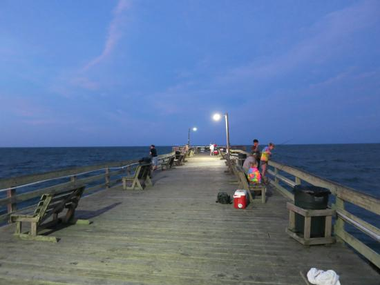 they have lights at night - picture of nags head fishing pier, Reel Combo