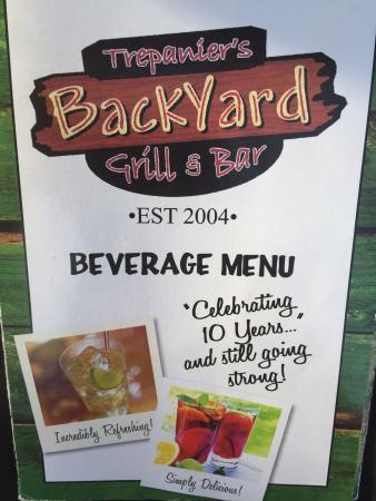 Trepanier's Backyard Grill & Bar, Fond du Lac - Menu ...