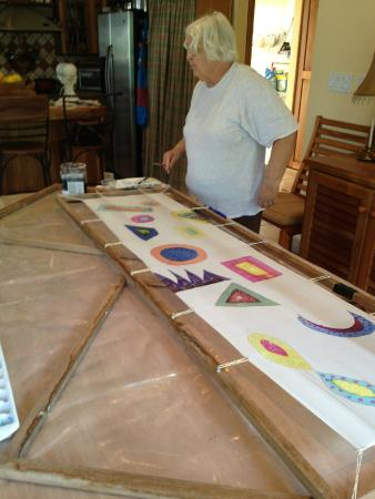 Barbara Rabkin Art Studio: One of the students hard at work