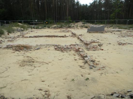 Sobibor, Poland: archaeological dig of gas chamber