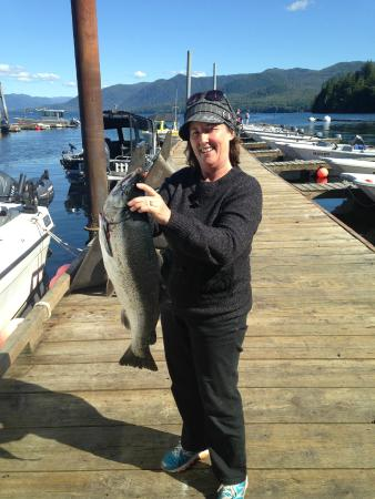 Clover Pass Resort: One of the Salmon we caught