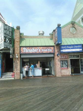 Thrasher's French Fries: Location