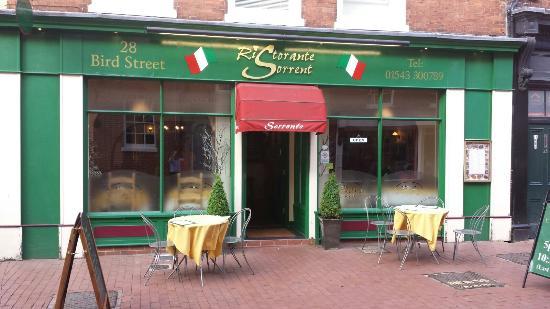 Sorrento Restaurant Bird Street Lichfield