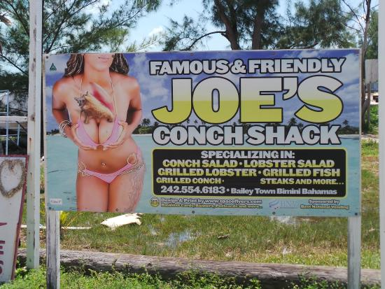 Joe's Conch Shack : Joe's on da corner