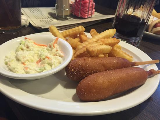 Hoopeston, IL: Corn dog basket with extra corn dog