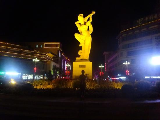 """Playing Pipa"" Statue"