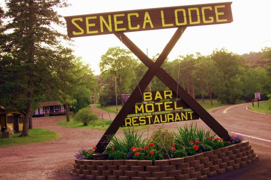 Seneca Lodge: Sign at Lodge