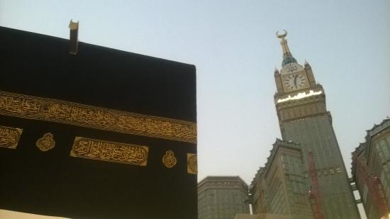 Grand Mosque: View of Kabba and Clock tower Royal