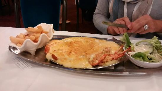 Ashmore Seafood and Steakhouse: Lobster mornay, fillet steak, T bone