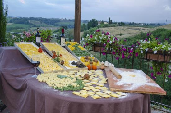 Montespertoli, Italie : Pasta fatta in casa