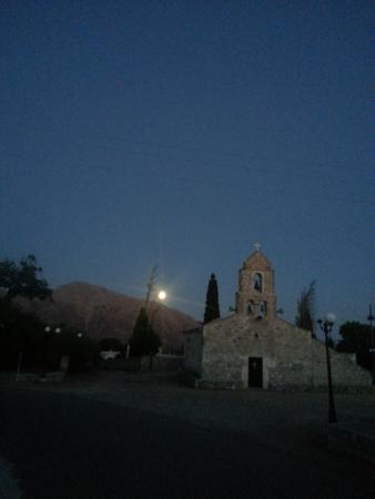 Pagkia's church square in the full-moonlight