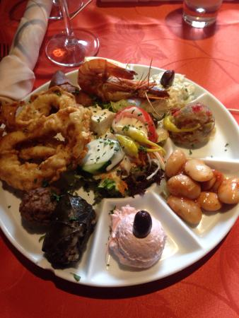Mezze chaud pour 1 personne un d lice photo de la table du grec jurbise tripadvisor - Restaurant la table du grec ...