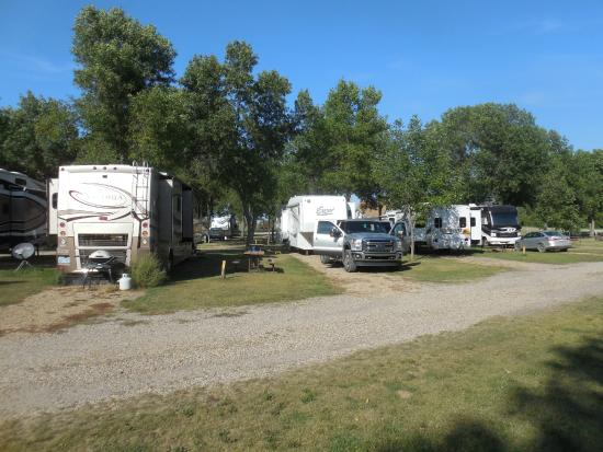 Jamestown Campground: The view of our campsite.
