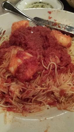 Leone's Ristorante & Pizzeria: Shrimp Scampi, but with Marinara and Extra Garlic