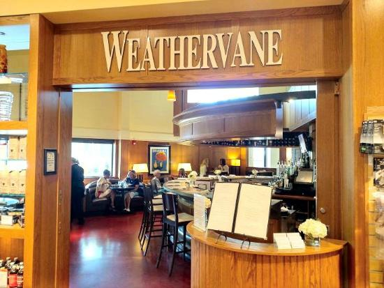 The Weathervane Restaurant: entrance from Southern Season