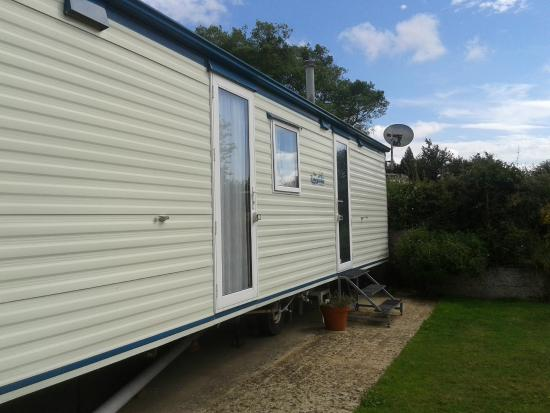 Petham, UK: side of caravan