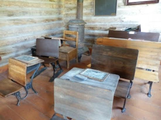 Encampment, WY: School room = 1 of many rooms to see