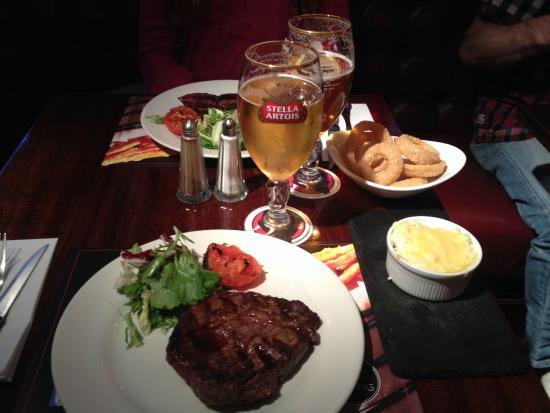 Angus Steakhouse - Leicester Sq: Steak e Stella.....