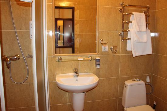Hotel Ukraina : Bathroom in room 223