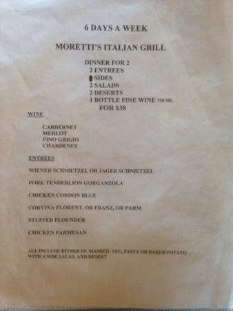 The Original Moretti's Italian Grill