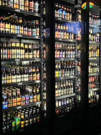 Over 500 bottled beers