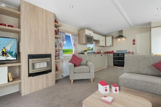 Cornish Coasts Caravan and Camping Park: New three bed static van - kitchen