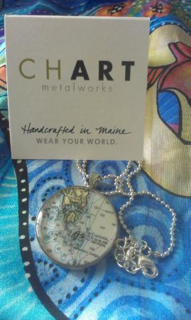 Southport Island, ME: CHART necklace...my most treasured coordinates.