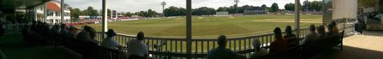 St. Lawrence Ground: View from the pavilion.