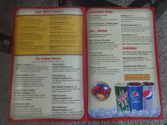 Grilled Cheese And Crab Cake Co Menu