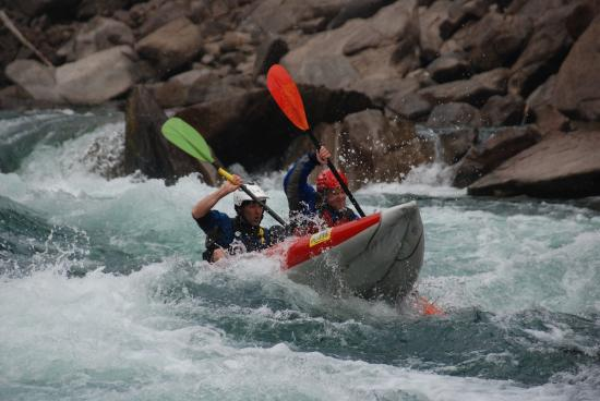 Liquid Lifestyles Whitewater Rafting : Tandem inflatable whitewater kayaking