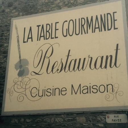 La Ferte Mace, Prancis: La table gourmande 4 sept 2015