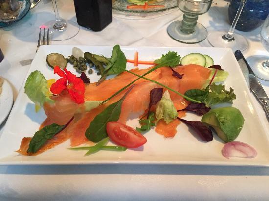 Salmon Salad Starter Picture Of Half Door Dingle