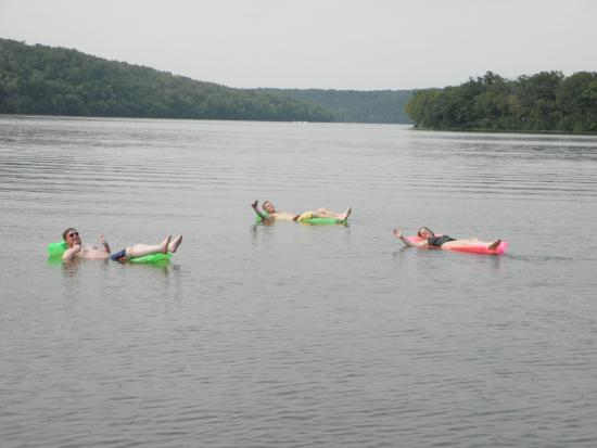 Dirty Duck Boat Rental: Best place to find a quiet cove to enjoy a raft!