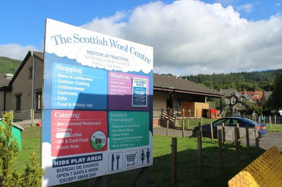 The Scottish Wool Centre: Scottish Wool Centre, Aberfoyle, Scotland, Aug 2015