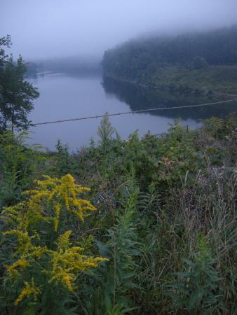 Waterville, PA: At the start of the Lake Shore Trail
