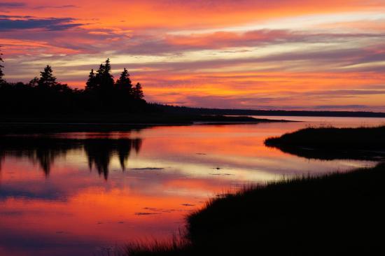 Shemogue, Canada: Blick vom Haupthaus auf die Bucht