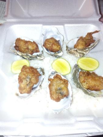 Barra Azul : Calamares y ostiones en tempura