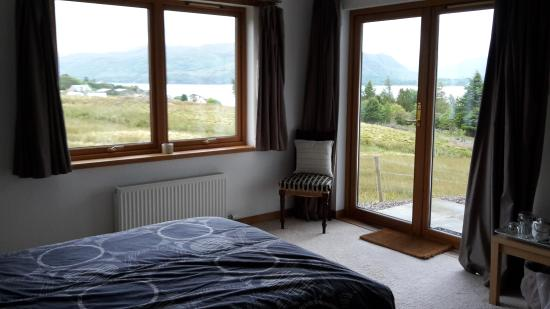 Lochcarron, UK: Fantastic view from double room.