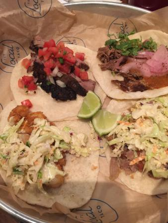 Local Taco: These tacos were outstanding!!! Service was fast, by the time you sit down good they are ringing