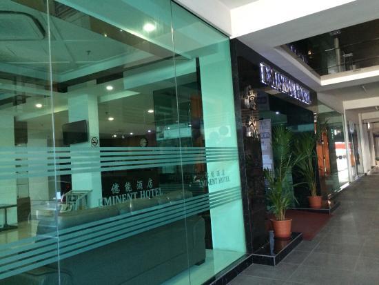 Eminent Hotel : 這裏舒服乾淨來機場比較近,但地點不太方便,司機要找一找才到
