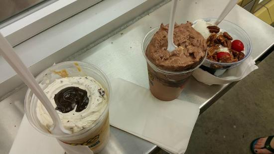 Andy's Frozen Custard: James Brown Jackhammer, Triple Chocolate Concrete and Stolen Brownie Sundae