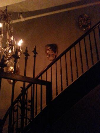 French Quarter History Tours: Stairwell in haunted mansion