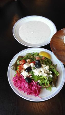 Ali Baba Express: Salad, grape leaves is to die for
