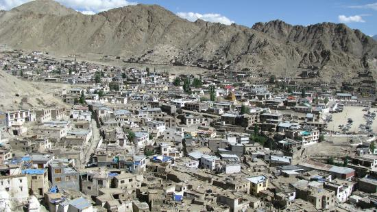 Leh Royal Palace: VIEW OF LEH from the top of the palace
