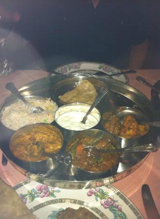 A Passage to India: veg thali