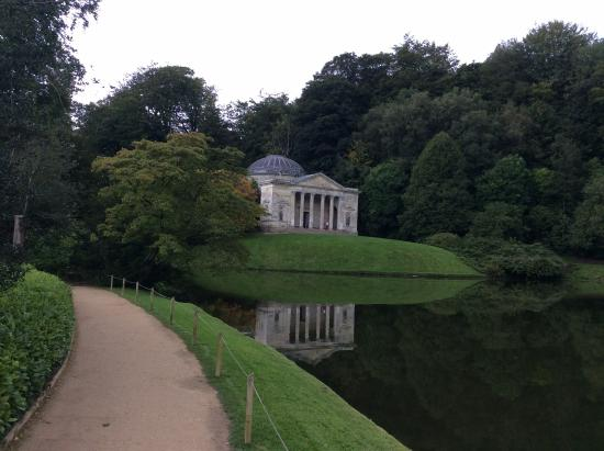 Stourhead House and Garden: The view across the lake